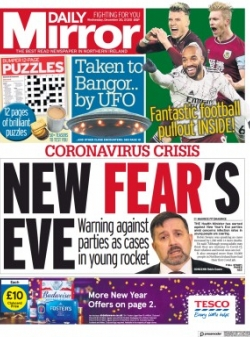 DAILY MIRROR (NORTHERN IRELAND) 2020